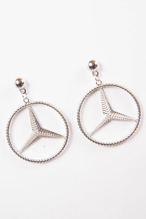Y2K Mercedes Benz Earrings