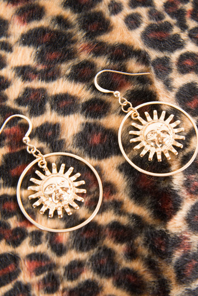 Celestial Sun Hoop Earrings