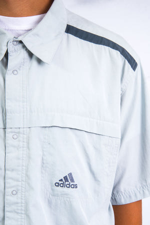 00's Adidas Grey Short Sleeve Shirt