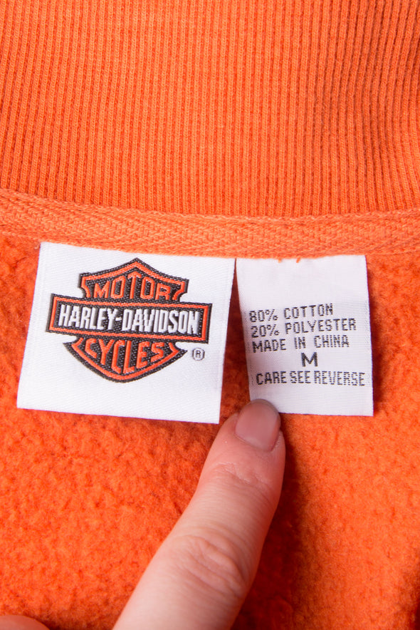 Vintage 90's Orange Harley Davidson Texas Jacket