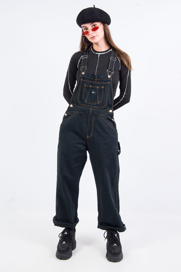 Vintage 90's Black Denim Dungarees