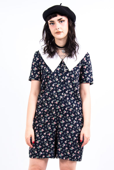 Vintage 90's Statement Collar Playsuit
