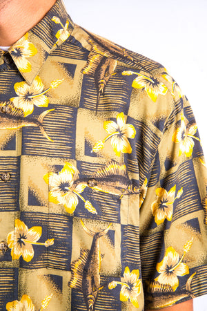 Floral Pattern Short Sleeve Shirt