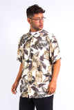Leaf Print Pattern Vacation Shirt