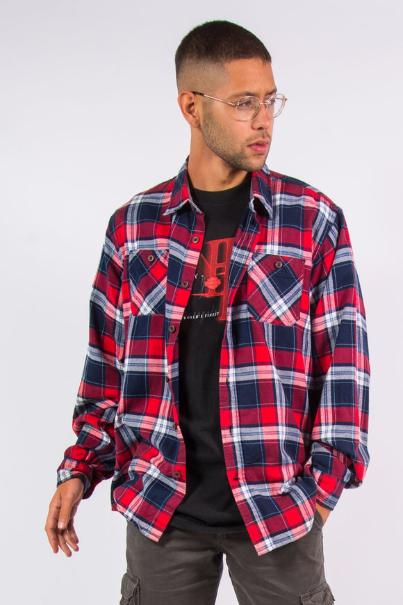 Wrangler red and blue check pattern shirt