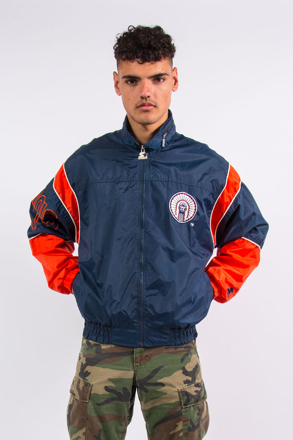 Vintage University Of Illinois Starter Windbreaker Jacket