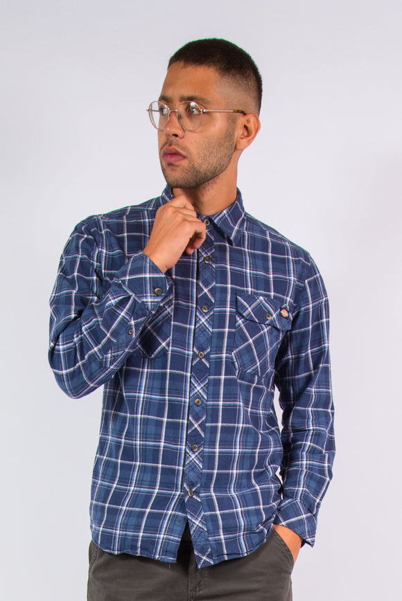 Dickies Blue Check Pattern Shirt