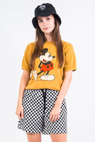 Vintage 80's Mickey Mouse Short Sleeve Sweatshirt