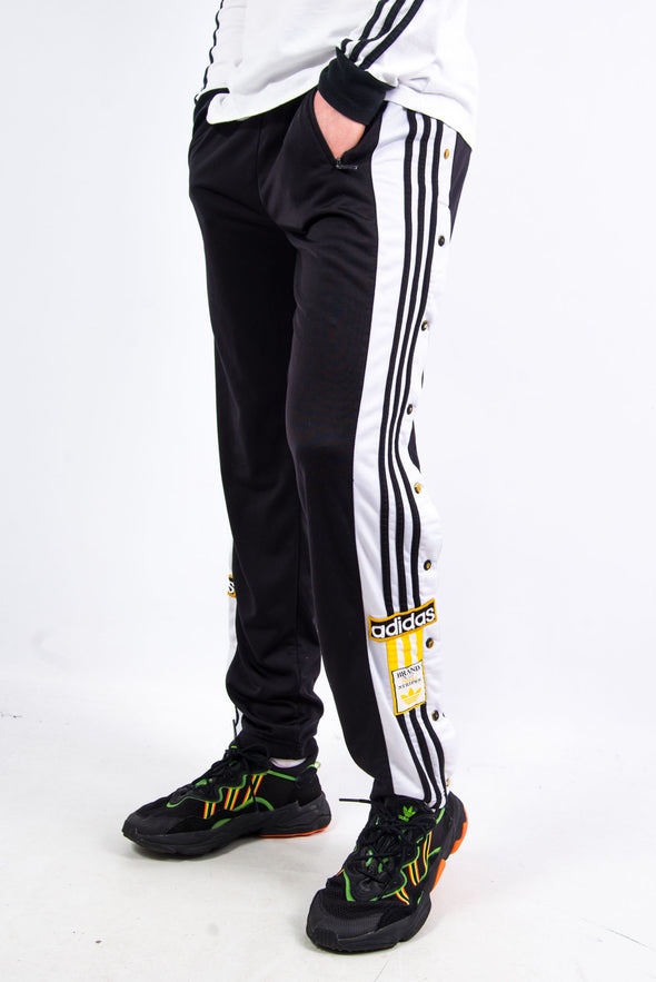 90's Adidas Popper Fasten Tracksuit Bottoms