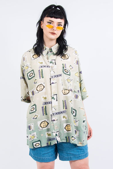 Vintage 90's Oversized Abstract Shirt