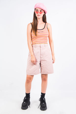 Vintage 90's Pink Lee Denim Mom Shorts
