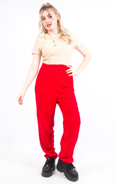 Vintage 90's Red and Gold Jumpsuit
