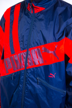 Vintage Puma Waterproof Windbreaker Jacket