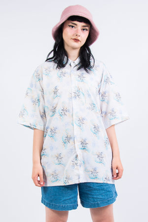Vintage 90's Patterned Oversize Shirt