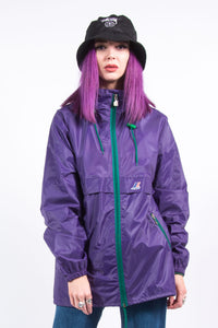 Vintage Hooded K-Way Raincoat Cagoule Jacket