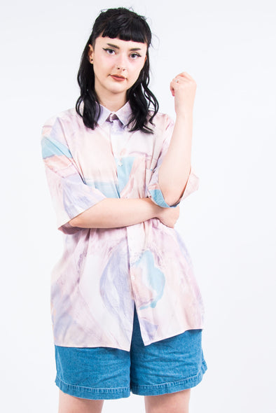 Vintage 90's Pink Marble Patterned Shirt