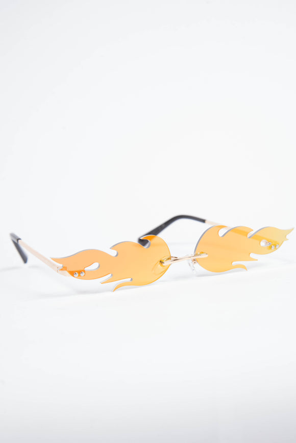 Y2K Orange Flame Sunglasses