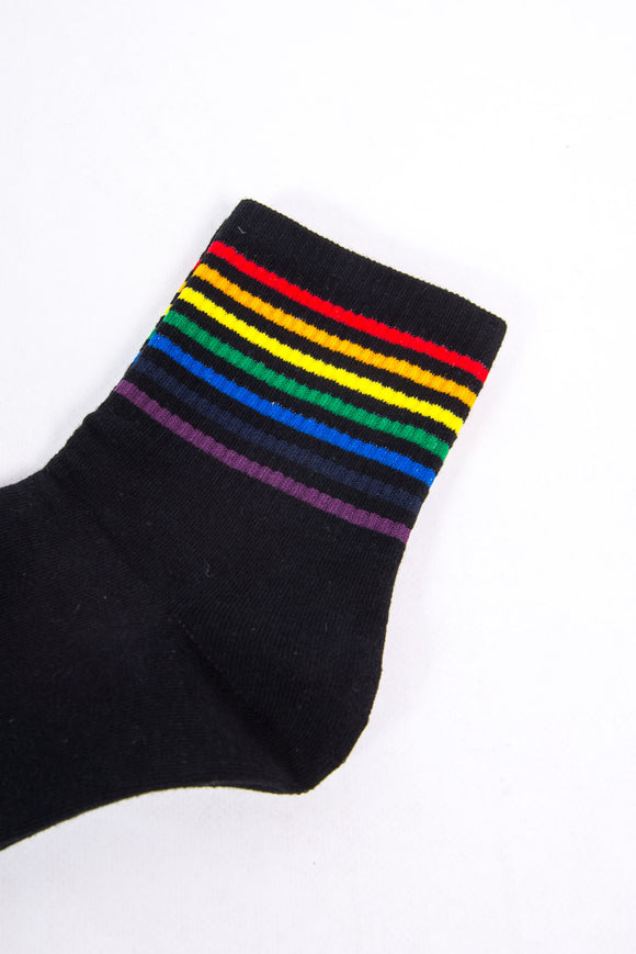 Rainbow Stripe Tube Socks