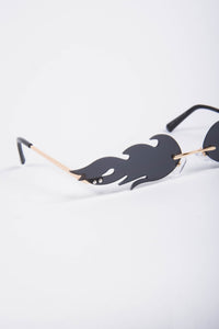 Y2K Black Flame Sunglasses