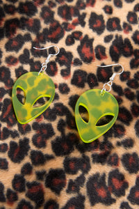 Y2K Alien Earrings