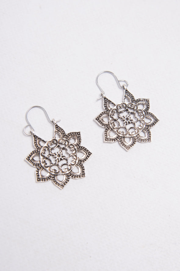 Mandala Boho Hoop Earrings
