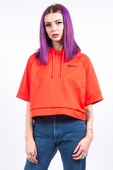 Vintage Cropped Nike Hooded Sweatshirt