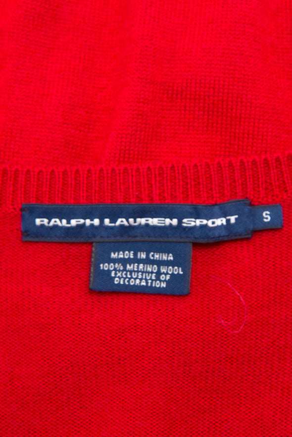 Vintage Ralph Lauren Red Cardigan