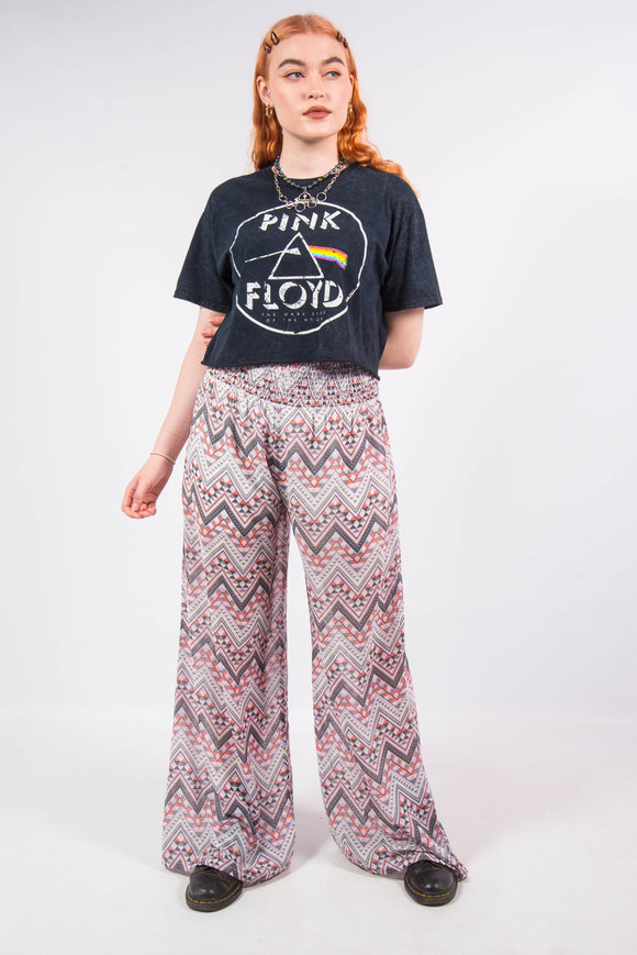 Vintage Sheer Patterned Boho Trousers