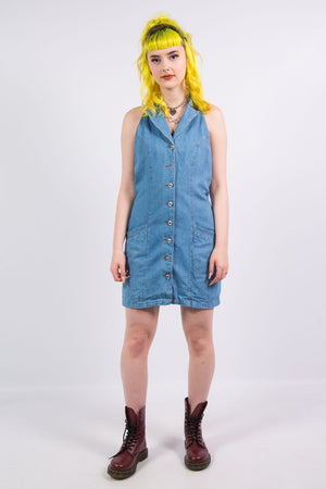 90's Vintage Denim Mini Dress