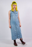 Vintage Denim Midi Dress