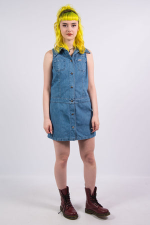 Vintage Y2K Miss Sixty Denim Shirt Dress