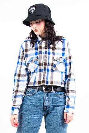 Vintage 90's Cropped Flannel Shirt