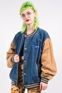 Vintage 90's Denim Baseball Jacket