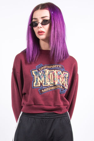 Vintage Cropped Minnesota University Sweatshirt