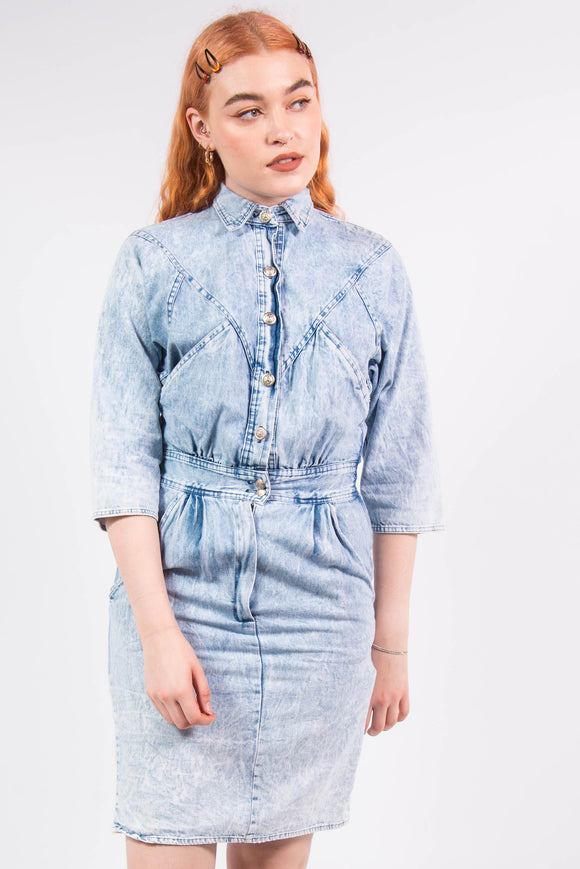 Vintage Western Style Denim Dress