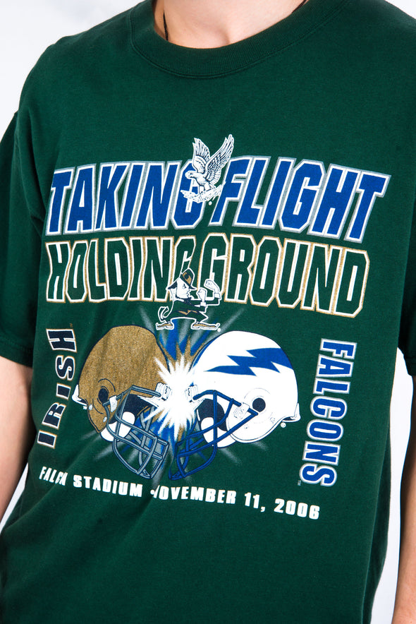 USA College Football T-Shirt Irish vs Falcons