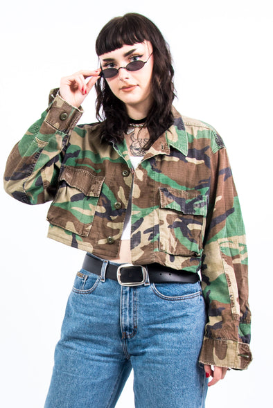 Vintage 90's Cropped Army Jacket