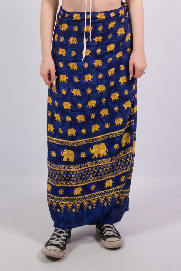 Vintage 90's Elephant Wrap Skirt