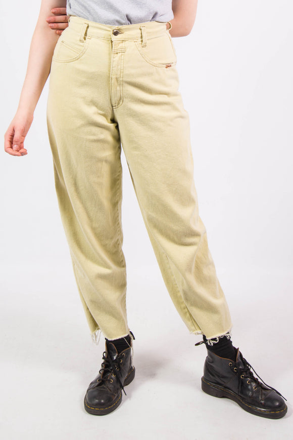 Vintage Pale Yellow 90's Mom Jeans