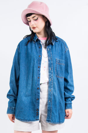 Vintage 90's Oversize Denim Shirt