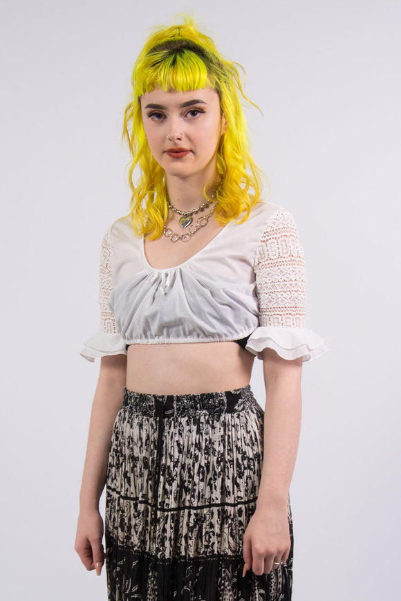 90's Vintage Milk Maid Crop Top