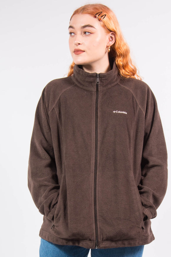 Vintage Columbia Brown Fleece Jacket