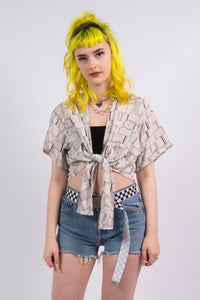 Vintage 90's Abstract Crop Top