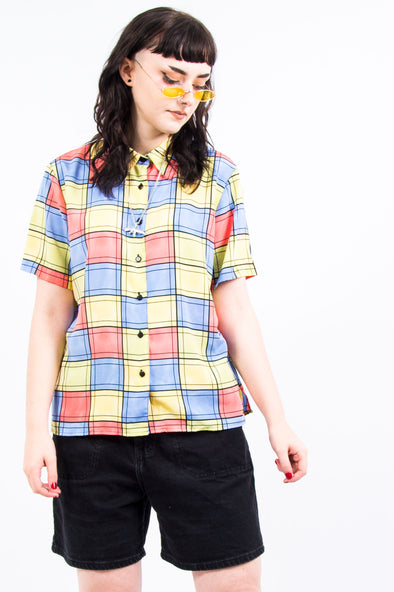 Vintage 90's Colourful Patchwork Shirt