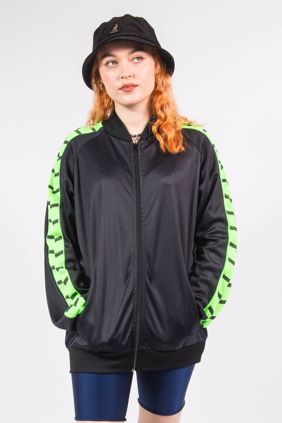 Vintage Neon Trim Tracksuit Jacket Top