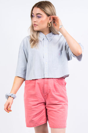 Ralph Lauren Crop Shirt with Matching Scrunchie