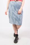 Vintage Acid Wash Denim Cotton Skirt