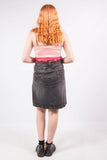 Vintage Y2K Faded Black Denim Skirt