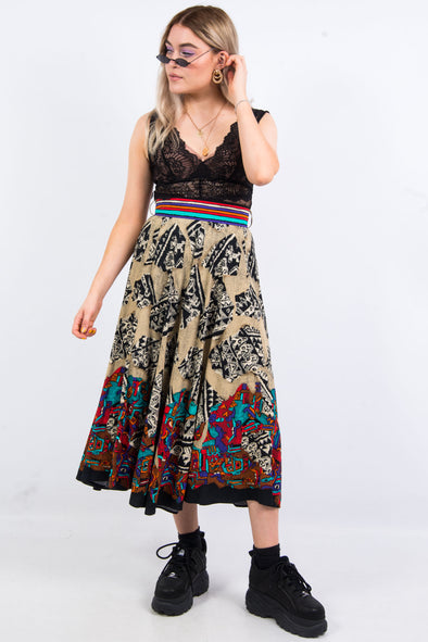 Vintage 90's Abstract Print Skirt