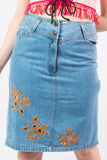Vintage 90's Denim Western Skirt